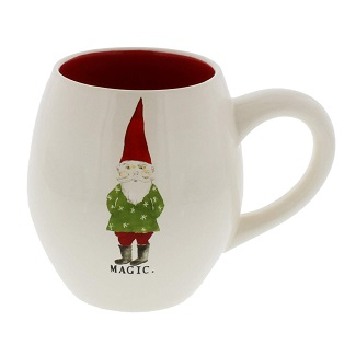 Rae Dunn by Magenta MAGIC Gnome Christmas Mug Red Interior