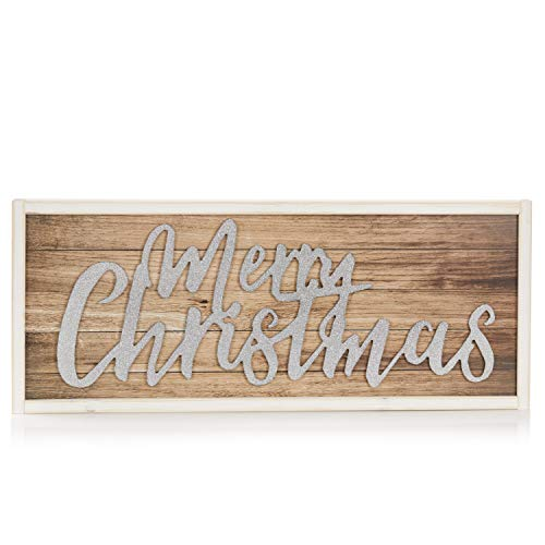 ReLive Decorative Expressions 11x27 Decorative Wooden Sign Merry Christmas Shimmer 0