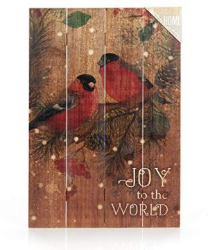 ReLive-Decorative-Expressions-18x12-Decorative-Wooden-Sign-Christmas-Birds-Joy-to-The-World-0-0