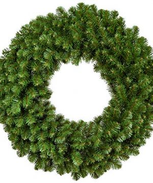 Red Sleigh Sequoia Fir Commercial Grade Traditional Christmas Wreath And Matching Christmas Garland Greenery 24 Wreath Unlit 0 300x360