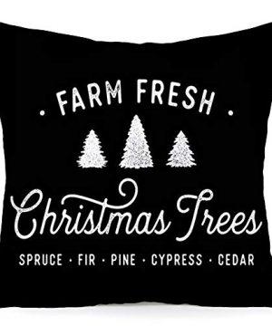 Royalours Christmas Pillow Cover Set Of 2 Super Soft Christmas Tree Farm Fresh Throw Pillow Covers Xmas Home Farmhouse Pillowcase Cushion Cover 18x 18 Soft Xmas 0 0 300x360