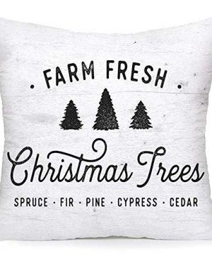Royalours Christmas Pillow Cover Set Of 2 Super Soft Christmas Tree Farm Fresh Throw Pillow Covers Xmas Home Farmhouse Pillowcase Cushion Cover 18x 18 Soft Xmas 0 1 300x360