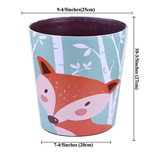 RuiyiF Waste Basket Deskside Decorative Farmhouse Trash Can Withoud Lid For Bathroom Kids Room Girls Bedroom Garbage Cans For Kitchen Office Recycling Bin Fox 0 5