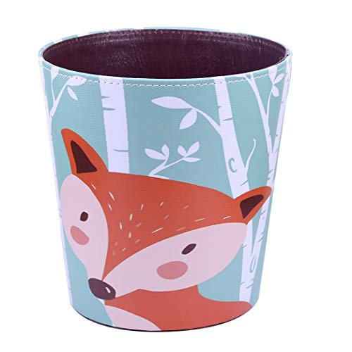 RuiyiF Waste Basket Deskside Decorative Farmhouse Trash Can Withoud Lid For Bathroom Kids Room Girls Bedroom Garbage Cans For Kitchen Office Recycling Bin Fox 0