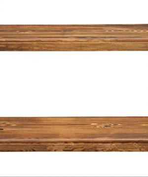 Rustic Farmhouse 2 Tier Floating Shelf With Routered Edges Distressed Oak 2 Tier 24 Length 8 Width 0 3 300x360