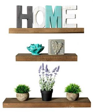 Rustic Farmhouse 3 Tier Floating Wood Shelf Floating Wall Shelves Set Of 3 Hardware And Fasteners Included White Oak 3 Tier Renewed 0 300x360
