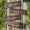Rustic Farmhouse Bathroom Decor Get Naked Soak Relax Unwind Signs Set Of Four Wooden Wall Hangings 0 100x100