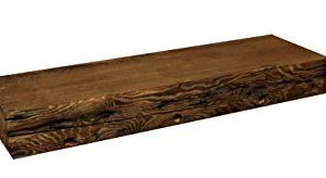 Rustic Fireplace Mantel Floating Wood Shelf Reclaimed Barn Wooden Beam Wall Decor Mounted Farmhouse Shelving Solid Decorative Ledge Organizer NO Hardware Unfinished18 W X 8 D X 275 H 0 4 300x164