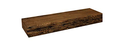 Rustic Fireplace Mantel Floating Wood Shelf Reclaimed Barn Wooden Beam Wall Decor Mounted Farmhouse Shelving Solid Decorative Ledge Organizer NO Hardware Unfinished18 W X 8 D X 275 H 0 4