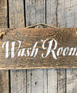 Rustic Wash Room Barn Wood Sign 0 1 300x360