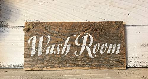 Rustic Wash Room Barn Wood Sign 0 2