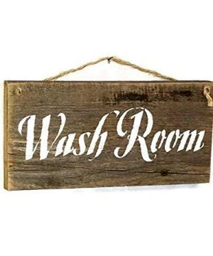 Rustic Wash Room Barn Wood Sign 0 300x360