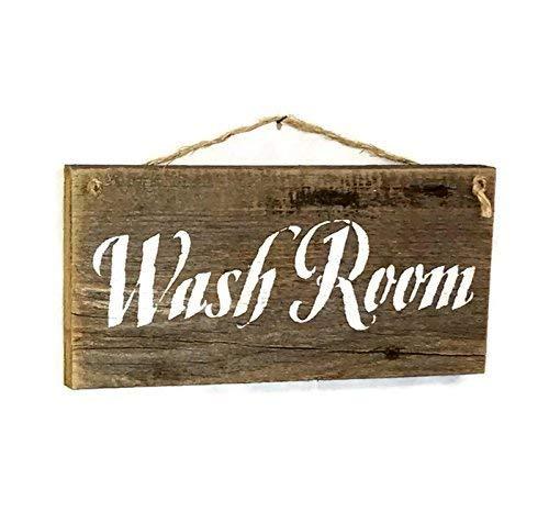 Rustic Wash Room Barn Wood Sign 0