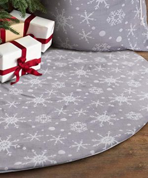 S DEAL 48 Inches Christmas Tree Skirt Double Layers Grey And White Snow Carpet For Party Holiday Decorations Xmas Ornaments 0 300x360