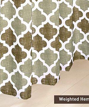 SHIELD CREATOR Beige Moroccan Shower Curtain Geometric Trellis Print Bathroom Decorative Curtains For Hotel Spa 72 X 72 0 2 300x360