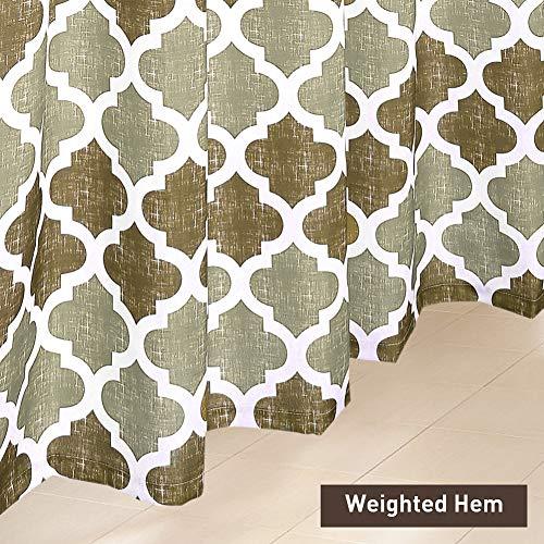 SHIELD CREATOR Beige Moroccan Shower Curtain Geometric Trellis Print Bathroom Decorative Curtains For Hotel Spa 72 X 72 0 2