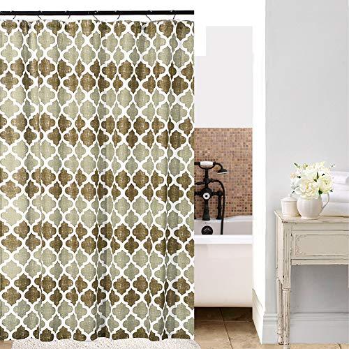 SHIELD CREATOR Beige Moroccan Shower Curtain Geometric Trellis Print Bathroom Decorative Curtains For Hotel Spa 72 X 72 0