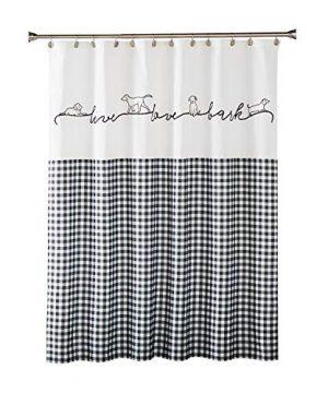 SKL HOME By Saturday Knight Ltd Farmhouse Dogs Shower Curtain Black 0 300x360