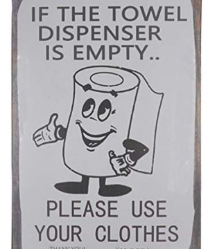 SKYC-If-The-Towel-Dispenser-is-Empty-Please-Use-Your-Clothes-Vintage-Retro-Metal-Sign-Home-Bathroom-Laundry-Decor-Wash-Room-Signs-8X12Inch-0