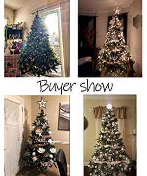 Senjie Artificial Christmas Tree 6775 Foot Flocked Snow Trees Pine Cone Decoration Unlit6 Foot Upgrade 0 0 300x360
