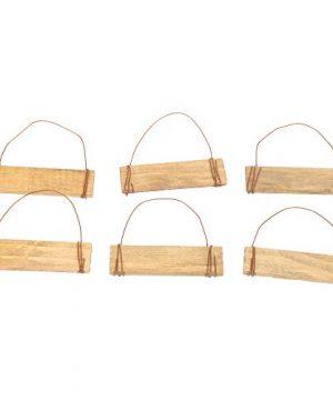 Set Of 6 Assorted Honey Me 35 Mini Wood Block Sign Ornaments Merry Christmas 0 2 300x360