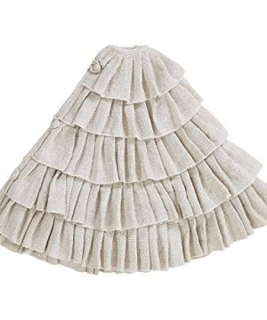 Shimmer Burlap Creme Ruffle Trim Rustic Christmas Tree Skirt 50 Inches Holiday Decoration 0 0 300x360