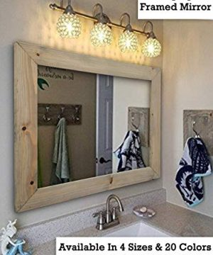 Shiplap Large Wood Framed Mirror Available In 4 Sizes And 20 Colors Shown In Weathered Oak Large Wall Mirror Rustic Barnwood Style Bathroom Vanity Mirror Decor For Bathroom 0 300x360