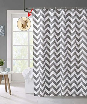 Shower Curtain Gray Striped Paisue Washable Hotel Quality Waterproof Fabric Shower Curtain For Bathroom 70 X 70 Inch 0 3 300x360