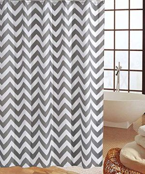Shower Curtain Gray Striped Paisue Washable Hotel Quality Waterproof Fabric Shower Curtain For Bathroom 70 X 70 Inch 0 300x360