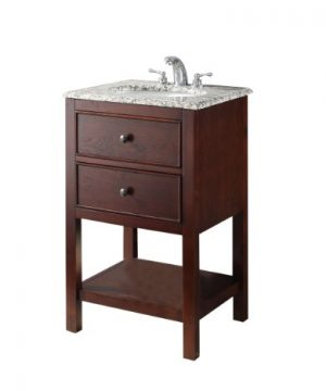 Simpli Home NL HHV022H 20 2A Burnaby 20 Inch Contemporary Bath Vanity In Walnut Brown With Dappled Grey Granite Top 0 300x360