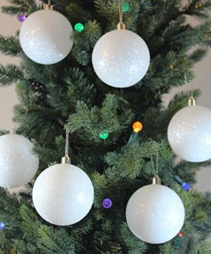 Sleetly 12pk White Snowball Christmas Tree Ball Ornaments 315 Inches 0 300x360