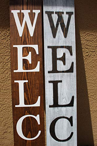 SmithFarmCo Wooden Welcome Sign For Front PorchFront Door Made With Real Wood 5 Feet Tall Large Rustic Farmhouse Style Farmhouse Distressed 0 2