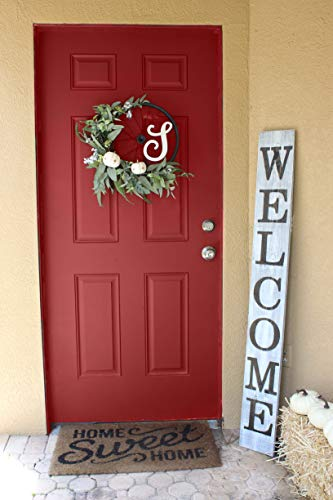 SmithFarmCo Wooden Welcome Sign For Front PorchFront Door Made With Real Wood 5 Feet Tall Large Rustic Farmhouse Style Farmhouse Distressed 0