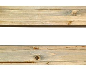 Spiretro Dimension Floating Shelves Wall Mounted Set Of 2 Rustic Torched Wood 165 Inch Ledge To Storage Organize And Display For Bedroom Living Room Bathroom Kitchen Office Farmhouse Grey 0 5 300x247