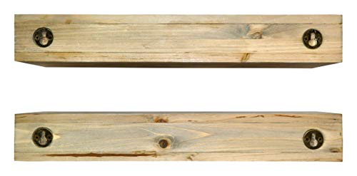 Spiretro Dimension Floating Shelves Wall Mounted Set Of 2 Rustic Torched Wood 165 Inch Ledge To Storage Organize And Display For Bedroom Living Room Bathroom Kitchen Office Farmhouse Grey 0 5