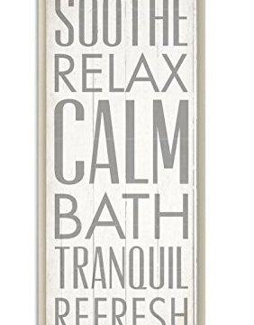 Stupell Home Dcor Soothe Calm Relax Bath Bathroom Wall Plaque 7 X 05 X 17 Proudly Made In USA 0 282x360