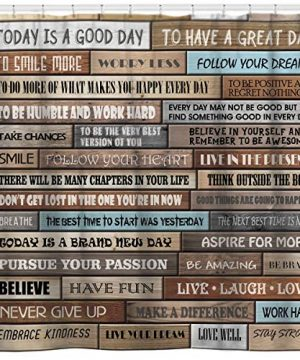 Sunlit Inspirational Motivational Happiness Quotes For Courage Be Awesome Poster Print Rustic Cabin Shower Curtain Teak Closet Curtain Home Bathroom Decor Fabric Quote Tapestry 0 300x360