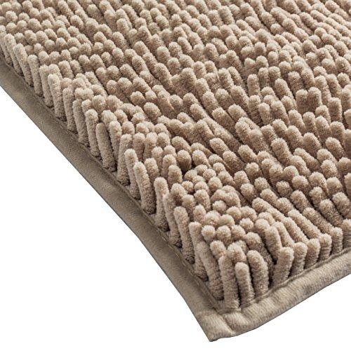 Sunnyglade Bathroom Contour Rugs Combo Set Of 2 Chenille Fabric Microfiber Soft Shaggy Non Slip 21 X 34 Bath Shower Mat And 20 X 20 U Shaped Toilet Floor Rug Bathroom Carpet 0 2