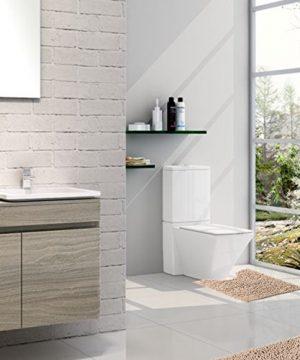 Sunnyglade Bathroom Contour Rugs Combo Set Of 2 Chenille Fabric Microfiber Soft Shaggy Non Slip 21 X 34 Bath Shower Mat And 20 X 20 U Shaped Toilet Floor Rug Bathroom Carpet 0 4 300x360