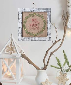 Sunnyglade Wood Holiday Wall Hanging Dcor Door Hanging Decorations With Led Lights Wood Plaques Signs Christmas Ornament For Home School Office Tan 0 0 300x360