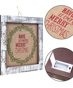 Sunnyglade Wood Holiday Wall Hanging Dcor Door Hanging Decorations With Led Lights Wood Plaques Signs Christmas Ornament For Home School Office Tan 0 1 300x360