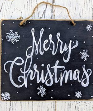 Susie85Electra Merry Christmas Rustic Christmas Decor Farmhouse Holiday Signs Whole Sale Christmas Wall Decor Snowflakes Chalkboard Art 0 300x360