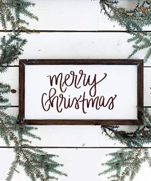 Sweet Water Decor Merry Christmas Wood Sign Holiday Decorations Gift For Her Farmhouse Frame Wooden Wall Art Plaque Signs With Sayings And Quotes Rustic Home Decor Xmas Decoration Decorative 0 0 300x360