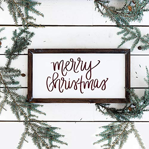 Sweet Water Decor Merry Christmas Wood Sign Holiday Decorations Gift For Her Farmhouse Frame Wooden Wall Art Plaque Signs With Sayings And Quotes Rustic Home Decor Xmas Decoration Decorative 0 0