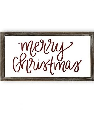Sweet Water Decor Merry Christmas Wood Sign Holiday Decorations Gift For Her Farmhouse Frame Wooden Wall Art Plaque Signs With Sayings And Quotes Rustic Home Decor Xmas Decoration Decorative 0 300x360