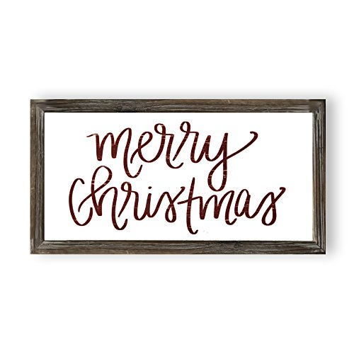 Sweet Water Decor Merry Christmas Wood Sign Holiday Decorations Gift For Her Farmhouse Frame Wooden Wall Art Plaque Signs With Sayings And Quotes Rustic Home Decor Xmas Decoration Decorative 0