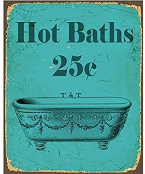 TGDB Vintage Hot Bath Bathroom Vinatge Sexy Metal Tin Sign Wall Plaque 0 300x360