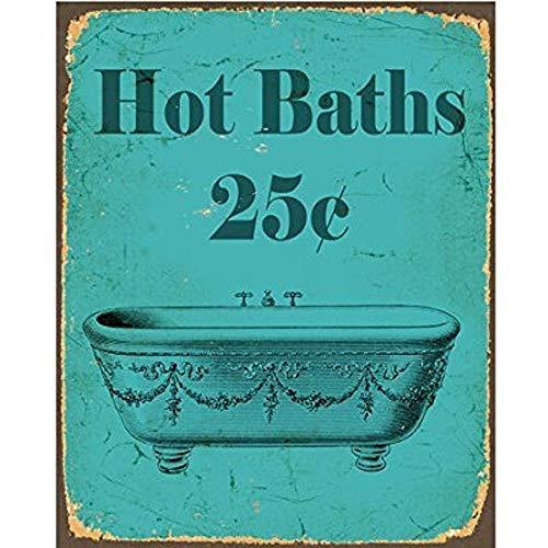 TGDB Vintage Hot Bath Bathroom Vinatge Sexy Metal Tin Sign Wall Plaque 0