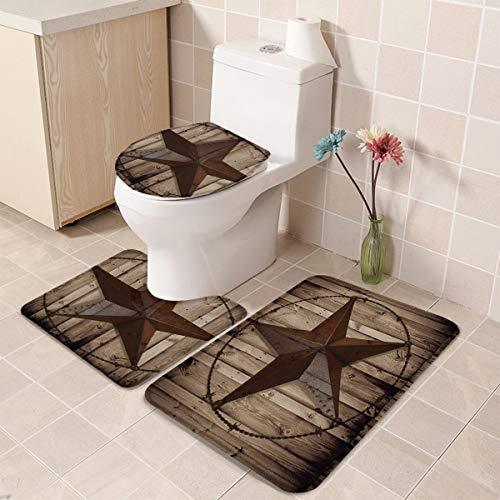 T H Home Bath Rug Sets 3 Piece For