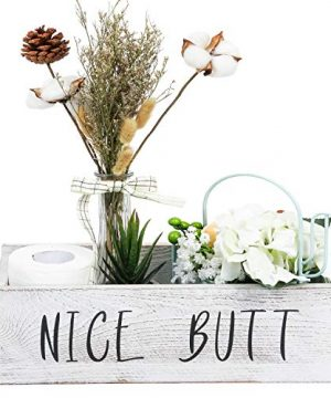 TIMEYARD Nice Butt Bathroom Decor Box Toilet Paper Holder Farmhouse Rustic Wood Crate Home Decor 0 300x360
